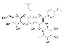 Icariin/淫羊藿苷(489-32-7,C33H40O15) 98% 纯化研发定制