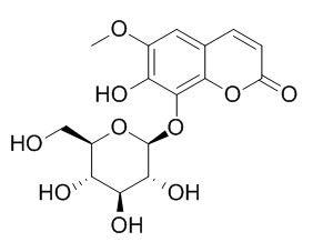 Fraxin/秦皮苷(524-30-1,C16H18O10) 98.5% 纯化研发定制