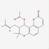 Praeruptorin A/白花前胡甲素(73069-25-7,C21H22O7) 98.5% 纯化研发定制