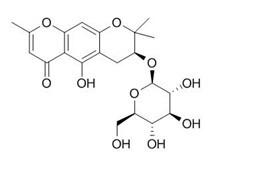 Sec-O-Glucosylhamaudol/亥茅酚苷(80681-44-3,C21H26O10) 98.5% 纯化研发定制