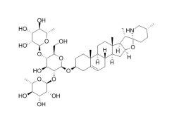 Solamargine/澳洲茄边碱 (20311-51-7,C45H73NO15) 98.5% 纯化研发定制