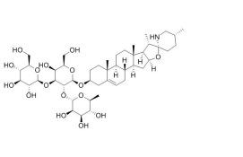 solasonine/澳洲茄碱 (19121-58-5,C45H73NO16) 98.5% 纯化研发定制